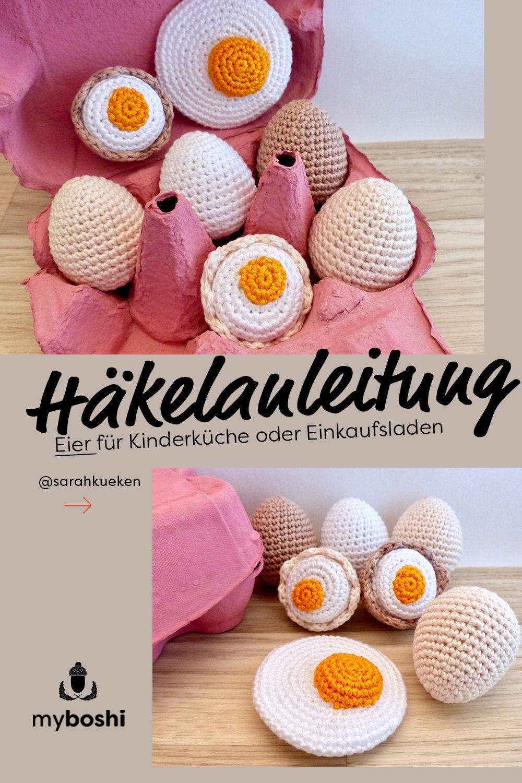 Photo of DIY-Accessoires für die Kinderküche – Häkel-Eier