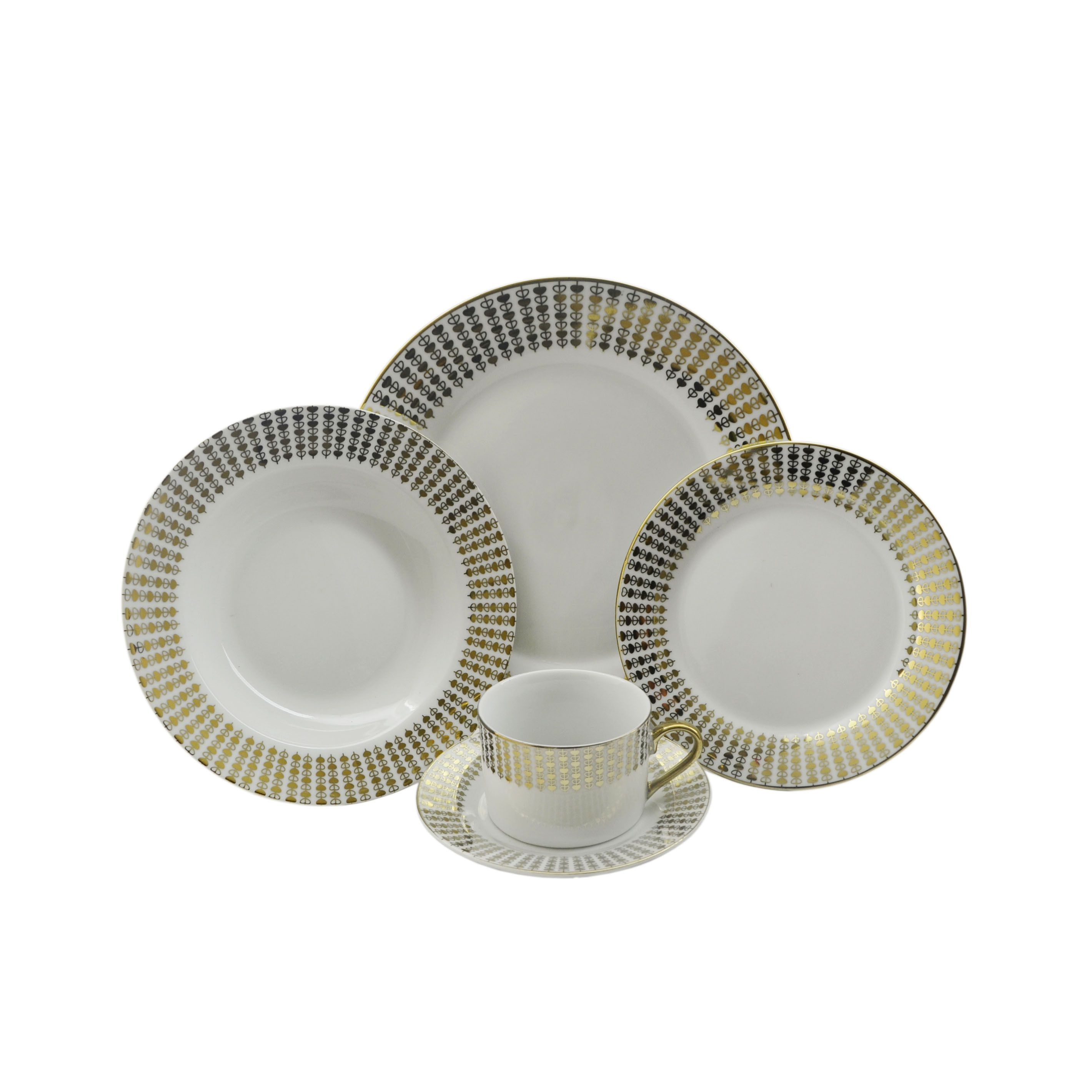 String of Hearts Porcelain 40-piece Dinnerware (Set for 8) (YL7620)  sc 1 st  Pinterest & String of Hearts Porcelain 40-piece Dinnerware (Set for 8) (YL7620 ...