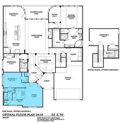 Hadleigh 541n New Home Plan In Woodforest Wentworth Collection Multigenerational House Plans New House Plans Large House Plans