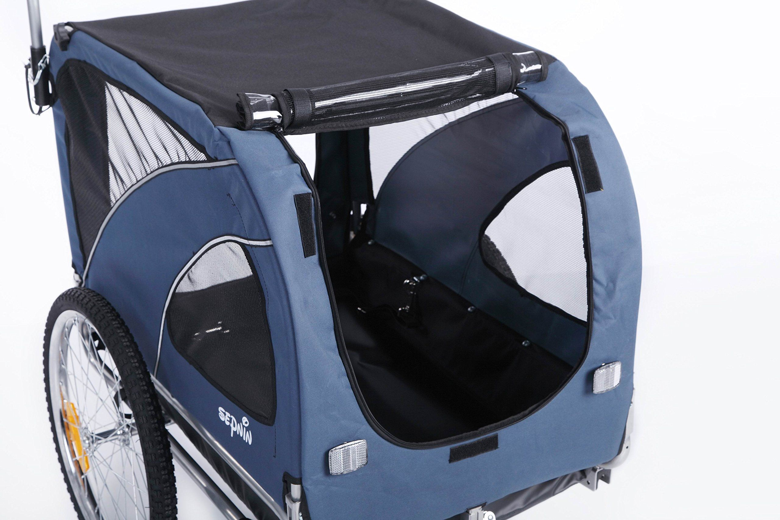 Sepnine 2 in1 Large pet Dog Bike Trailer Bicycle Trailer
