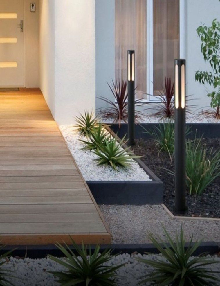 How To Upgrade Your Home S Entrance Increase Curb Appeal The Diy Life Modern Landscaping Front Yard Landscaping Design Modern Landscape Design