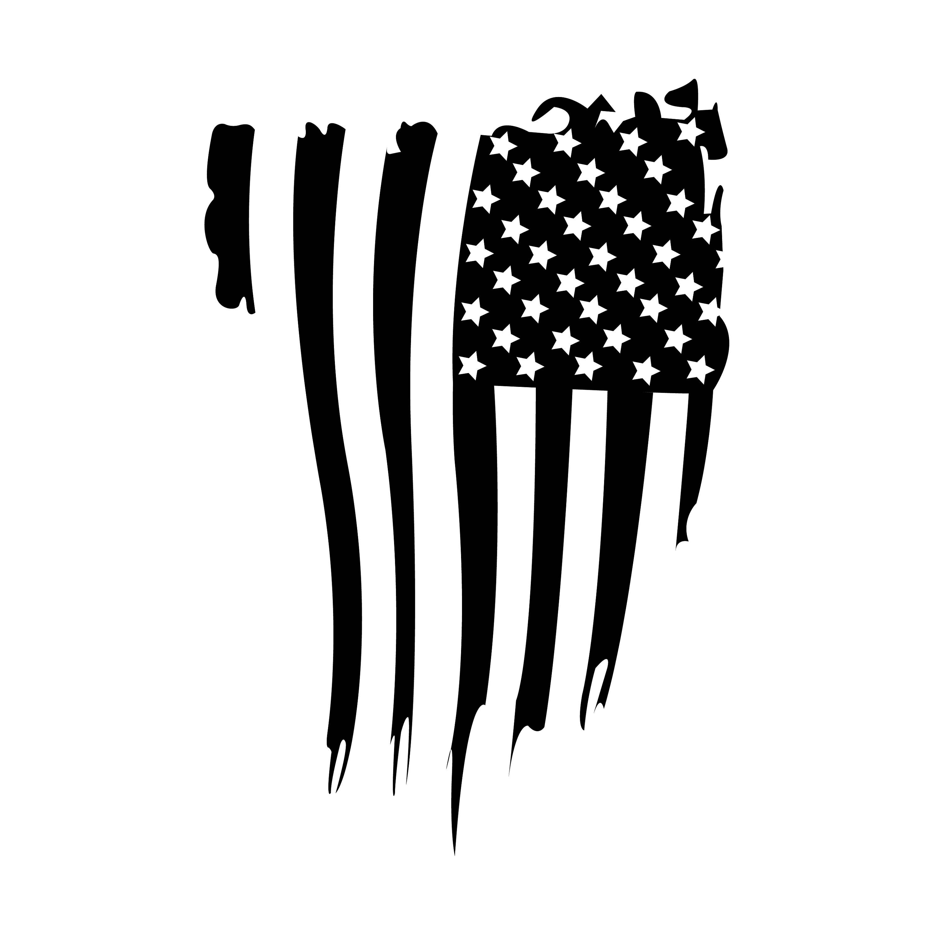 Distressed Flag Decal Etsy In 2020 Flag Decal American Flag Decal Black And White Flag