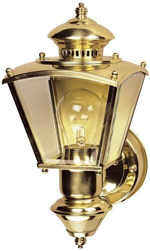 Charleston Coach Polished Brass Motion Sensor Outdoor Light By
