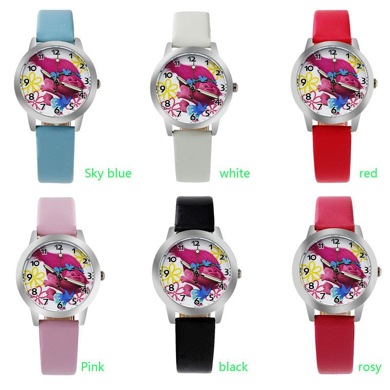 o0 2017 Original  children love  cartoon watch Preety boy girl fashion simple quartz round leather watches cutie