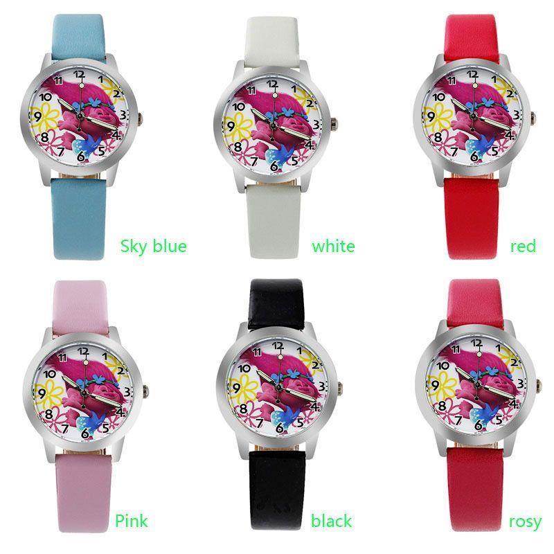 o0 2017 Original  children love  cartoon watch Preety boy girl fashion simple quartz round leather watches cutie