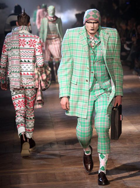 99f59f15ea1 Models present creations by US fashion designer Thom Browne during his mens  fall-winter 2012-2013 ready-to-wear collection