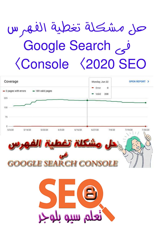 حل مشكلة تغطية الفهرس فى Google Search Console 2020 Seo Map Googie Google