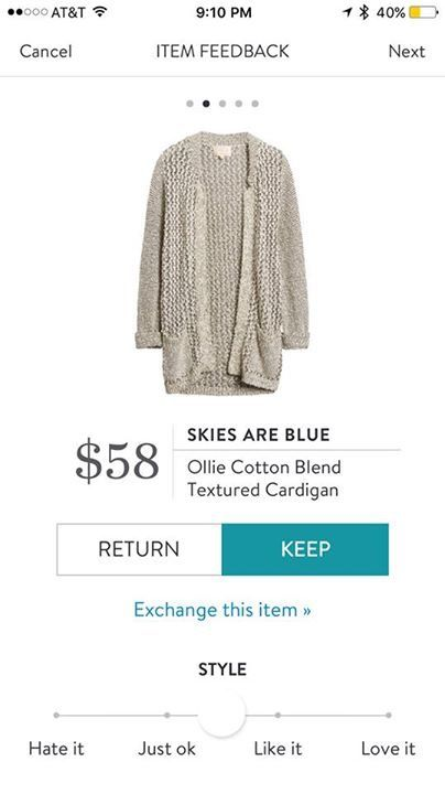 Skies are Blue Ollie Cotton Blend Textured Cardigan $58 Stitch Fix Fall 2017