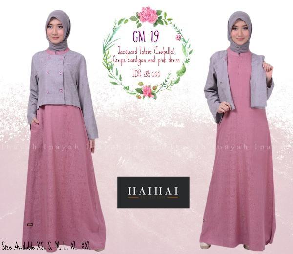 Jual Beli Baju Gamis Wanita Haihai Gm 19 Peach Ramadhan Sale Di Lapak Aprilia Wati Agenbajumuslim Menjual Busana Muslim Wanita Pink Dress Fashion Muslim