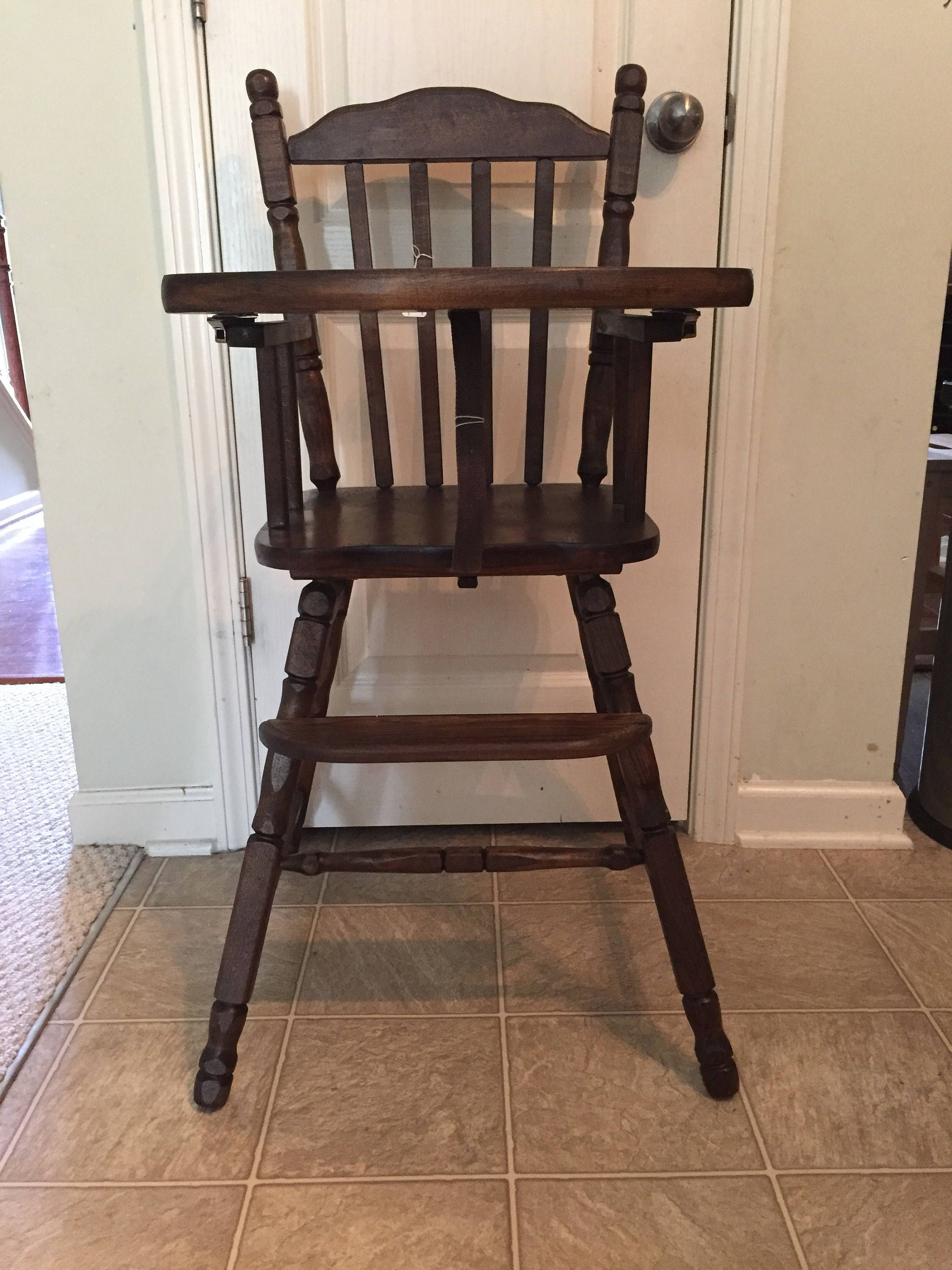 Vintage Wooden High Chair Jenny Lind