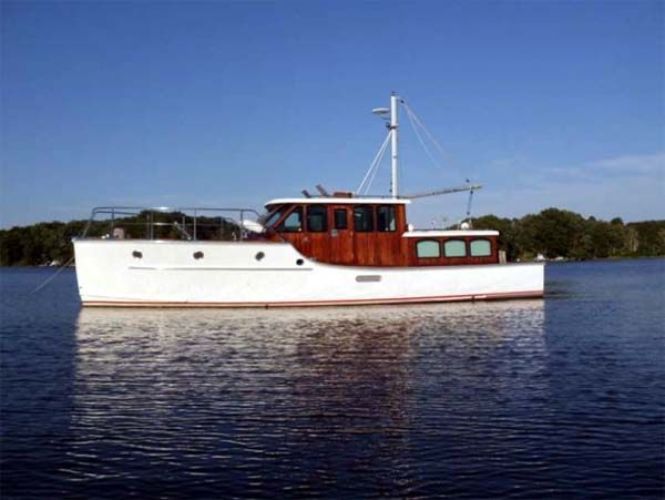 Trawler 43 sterling yachts justavacation for sale from for Garden design trawler boat