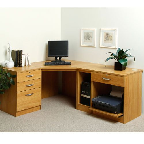 Grange Home Office Corner Desk And Printer Stand