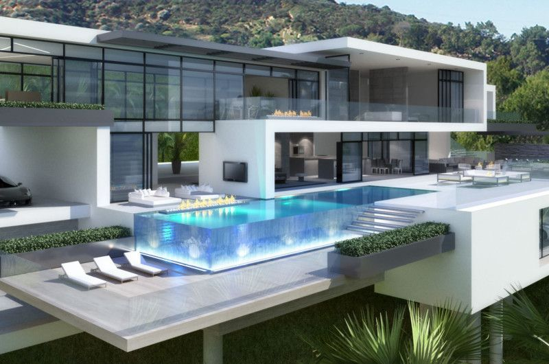 Contemporary Mansions On Sunset Plaza Drive La Big Modern Houses Ultra Modern Homes Modern House Plans