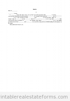 Sample Printable Identity Form  Sample Real Estate Forms