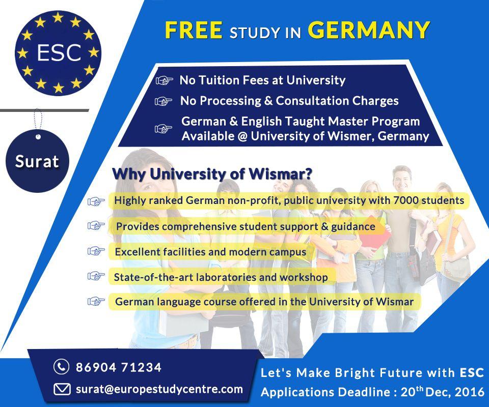 free master degree programs in europe