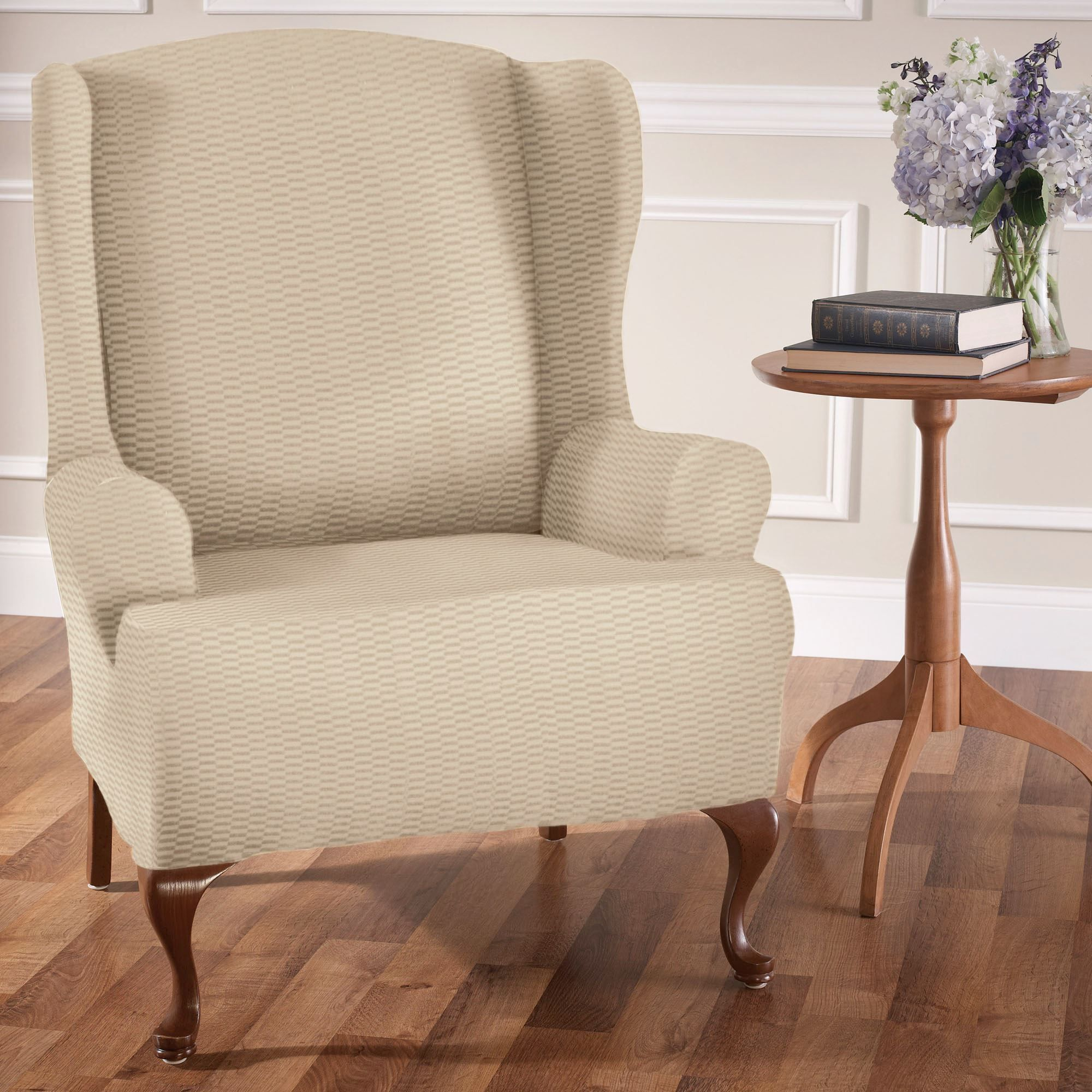 Raise The Bar Stretch Wing Chair Slipcovers Slipcovers For