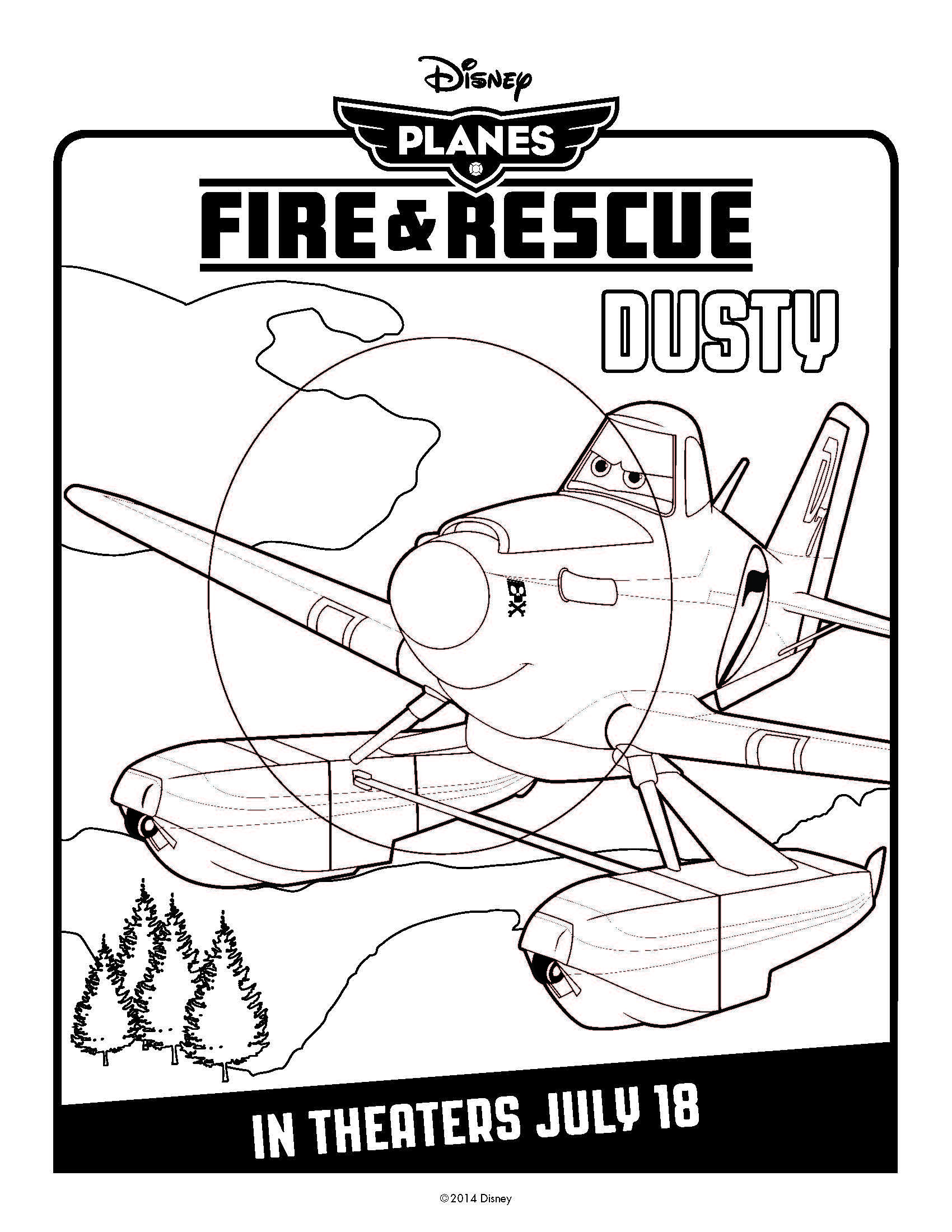 Disney\'s Planes: Fire & Rescue Coloring Pages | Preschool work ...