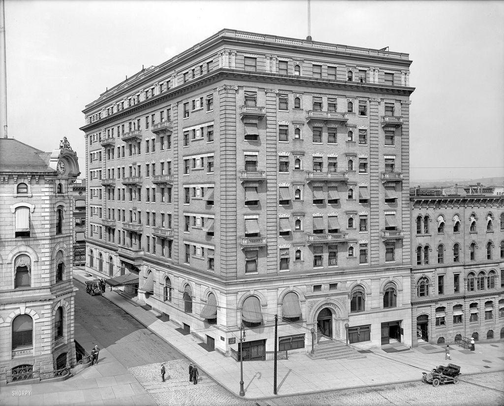 1908 ten eyck hotel albany ny shorpy historical photos