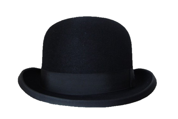 Traditional Bowler Hat Black Chapeu