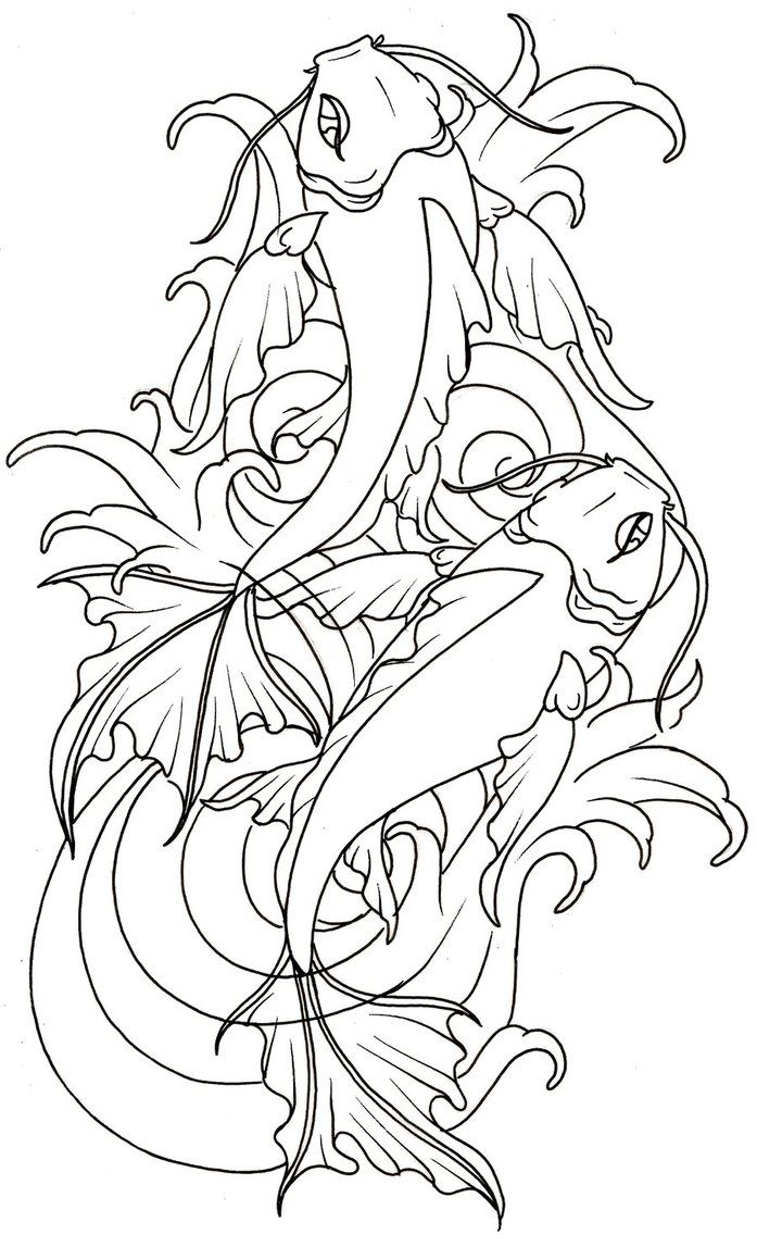 pisces coloring pages - koi fish tattoo by metacharis on deviantart tattoos and
