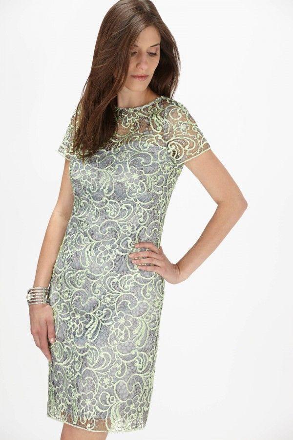 Cachet Two Tone Floral Lace Dress Dresses Shop By Clearance