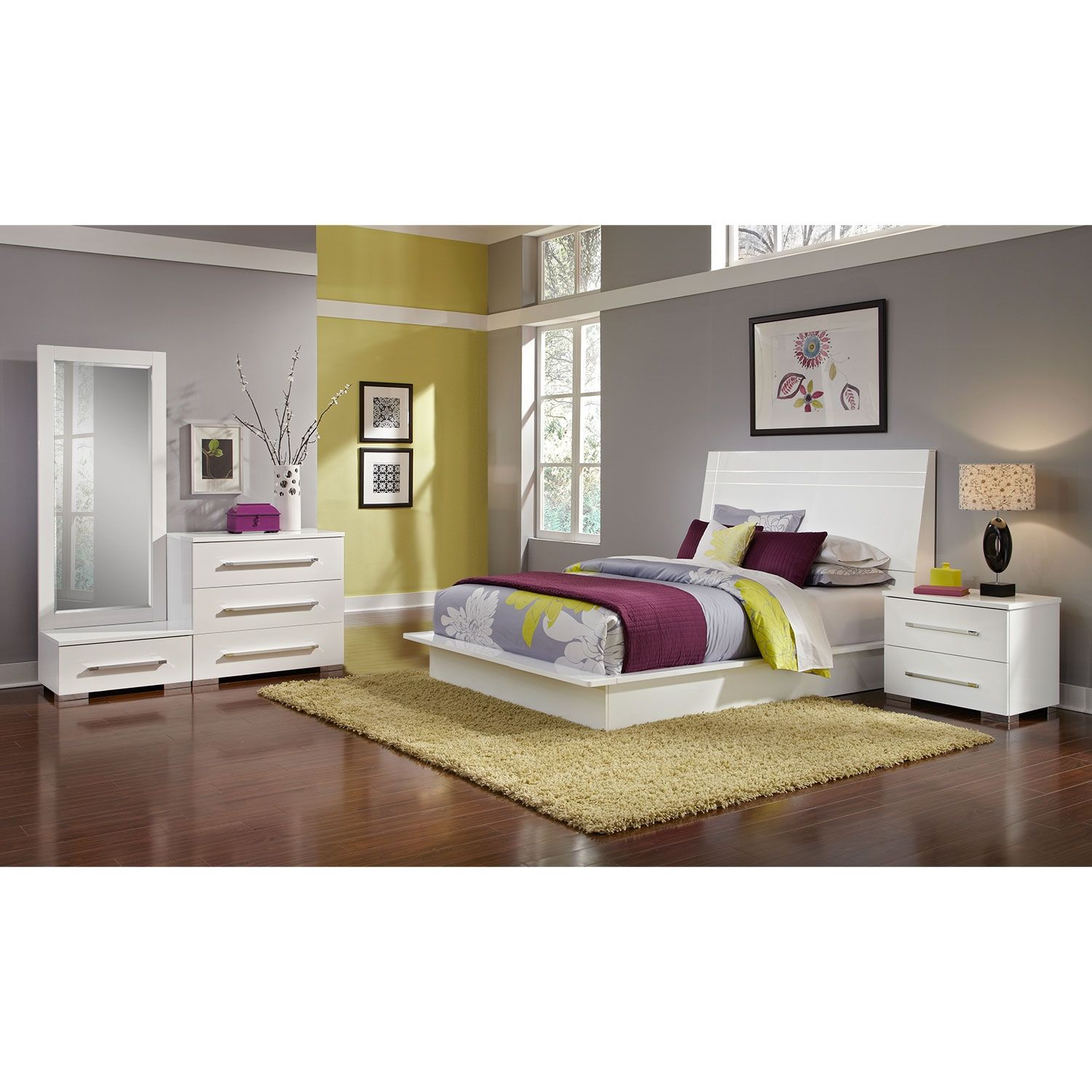 From Rome With Love The Dimora White Ii Collection Brings All The Class Of Italian Style Furnishings Furniture Bedroom Furniture For Sale Value City Furniture