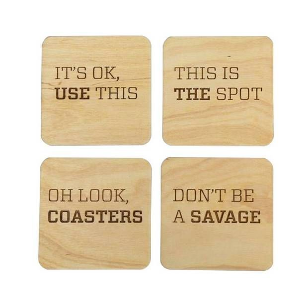 12 Cute Ways to Decorate With Personalized Messages Pun Coasters