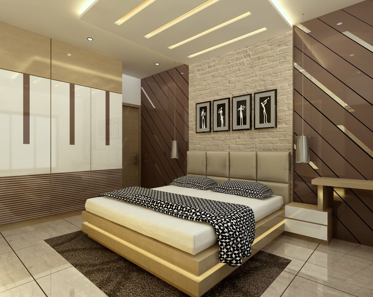 Turnkey Interior Contractor All India Level Bedroom False Ceiling Design Bedroom Furniture Design Ceiling Design Bedroom