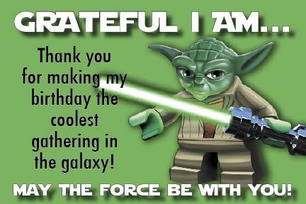 Star Wars Birthday Greeting Free ~ Star wars thank you cards hereupon free printable star wars thank