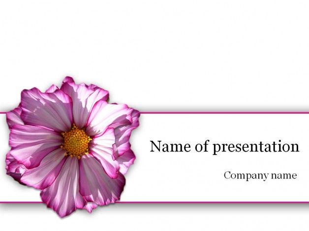 Purple Flower Powerpoint Template Templates Pinterest Template