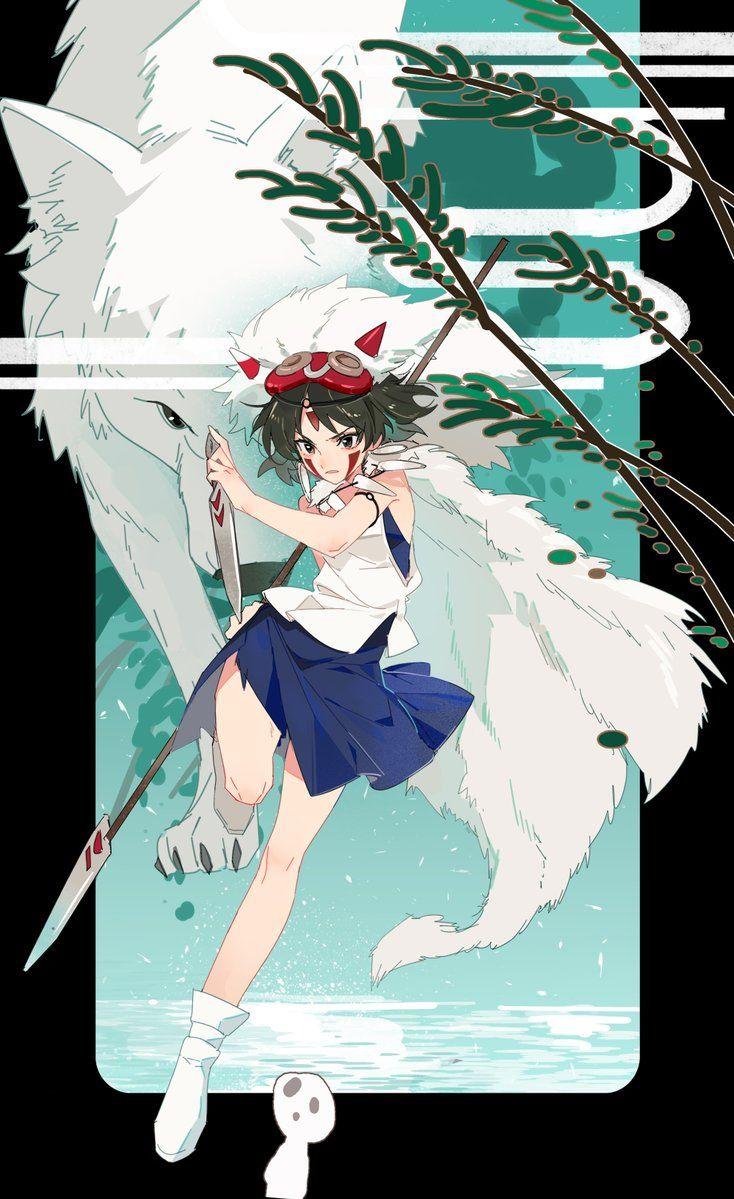 San the Wolf Princess from Princess Mononoke Anime, Công
