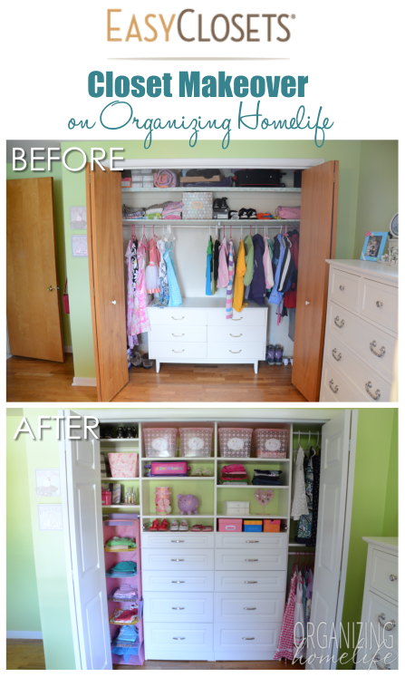 Organizing A Shared Kids Room Closet Easyclosets Makeover The Reveal Organizing Homelife Shared Kids Room Kid Room Decor Kid Closet