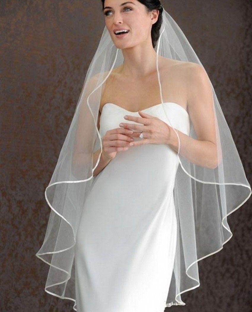 Best selling one layer whiteivory wedding veils short bridal veil