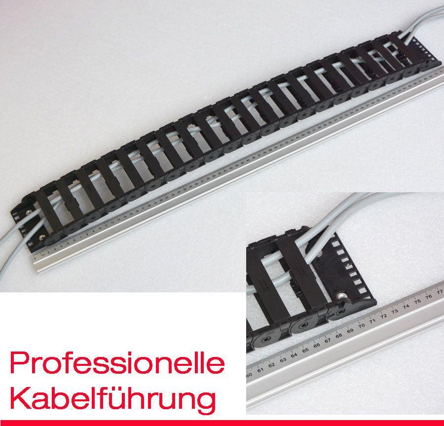 KABELFÜHRUNG 20x80mm 72cm FLEXIBLER KABELKANAL SCHLEPPKETTE KETTEN ...