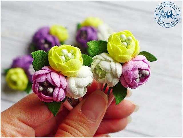 Spinki Do Wlosow Hair Clips Dt Craft Passion Hair Clips Crafts Flowers
