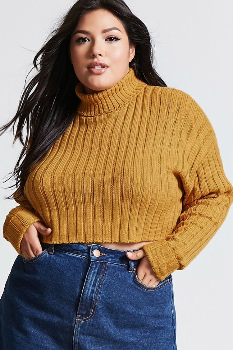 7885608e5a3 Product Name Plus Size Cropped Turtleneck