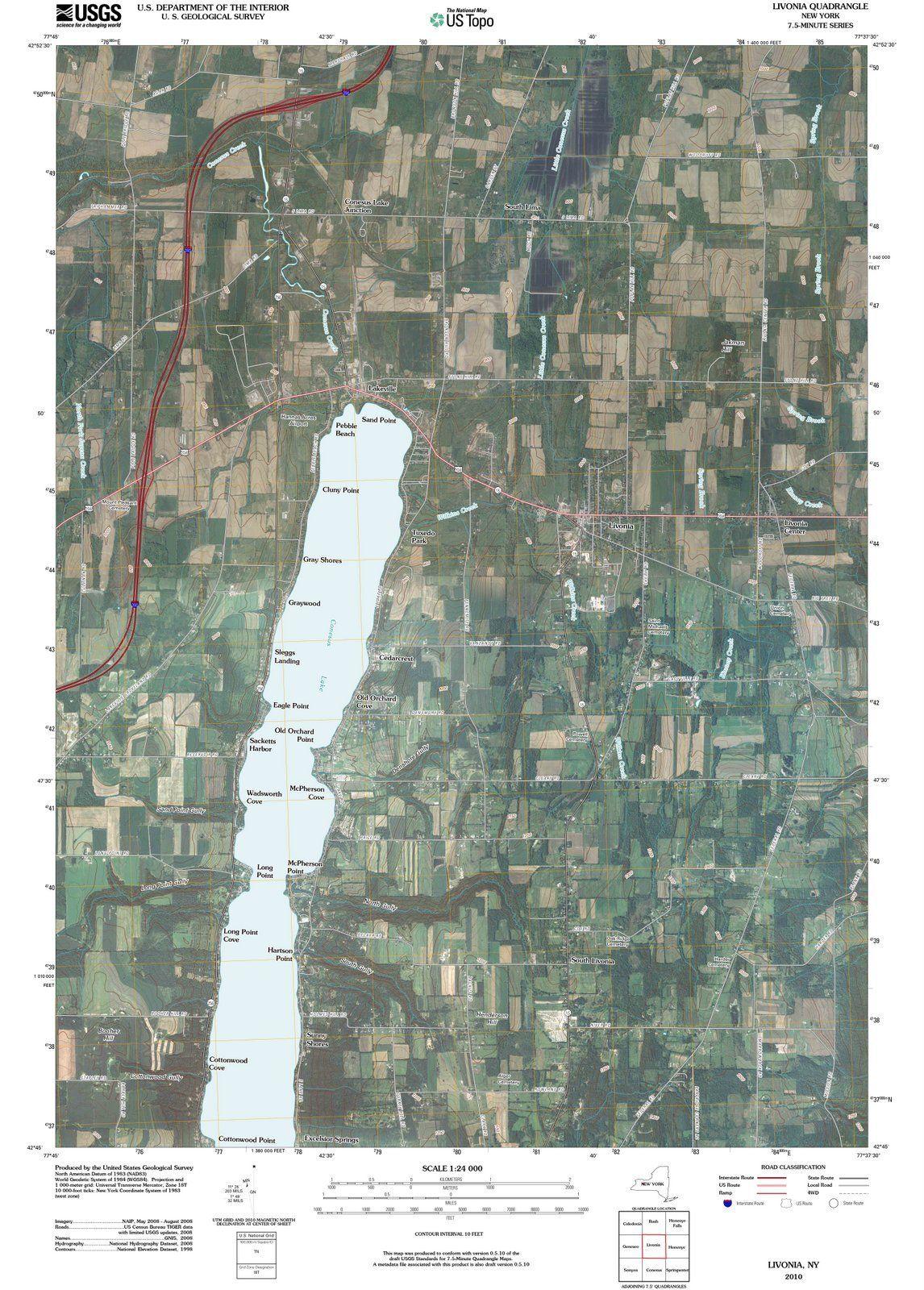 <p>2010 Livonia, NY - New York - USGS Topographic Map</p>