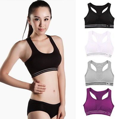 c7b3c62f1213b Seamless Yoga Sports Bra Crop Top Vest Comfort Stretch Bras Shapewear  Workout SV