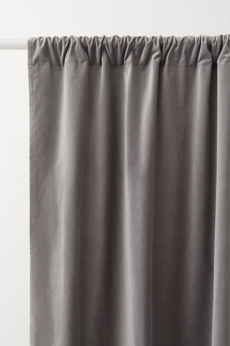 2 Pack Velvet Curtain Panels Gray H M Us 1 Velvet Curtains Burlap Curtains Diy Panel Curtains