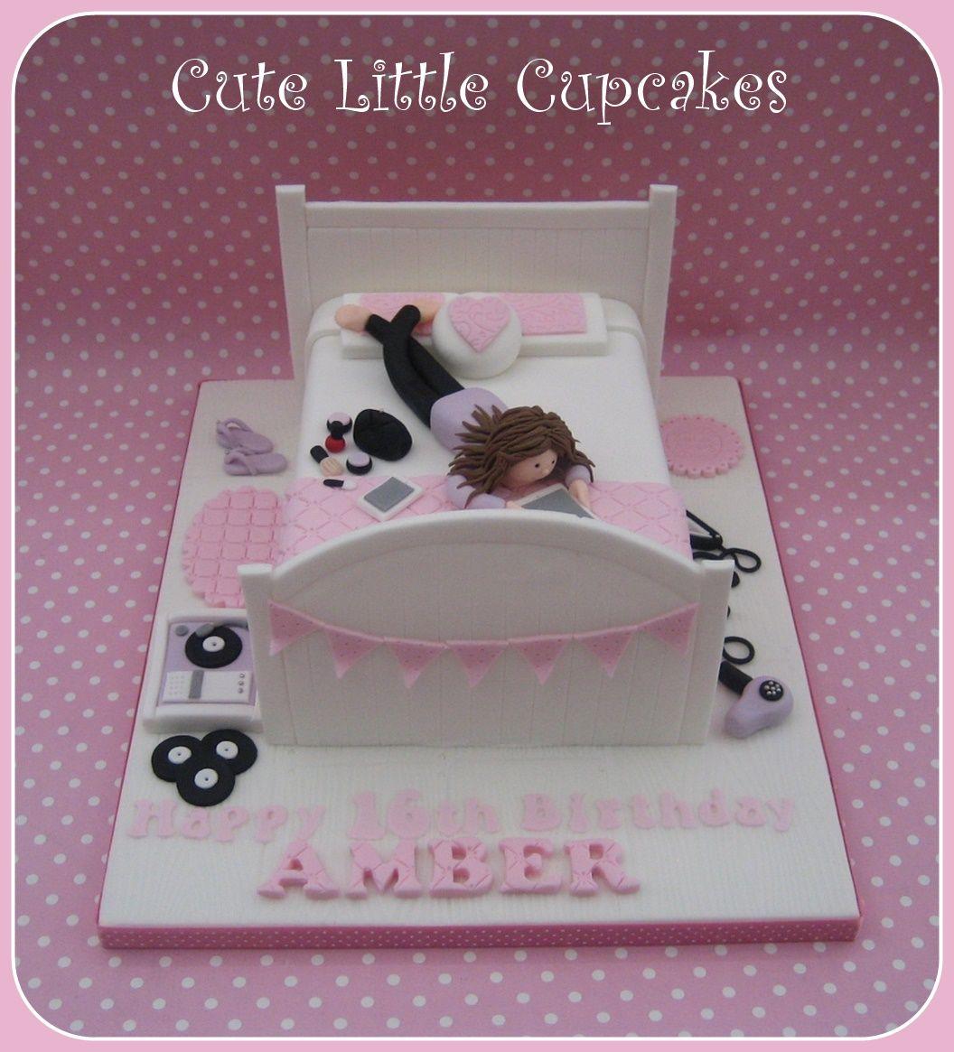 Teenage Girls Bedroom Cake Girl Birthday Teenager