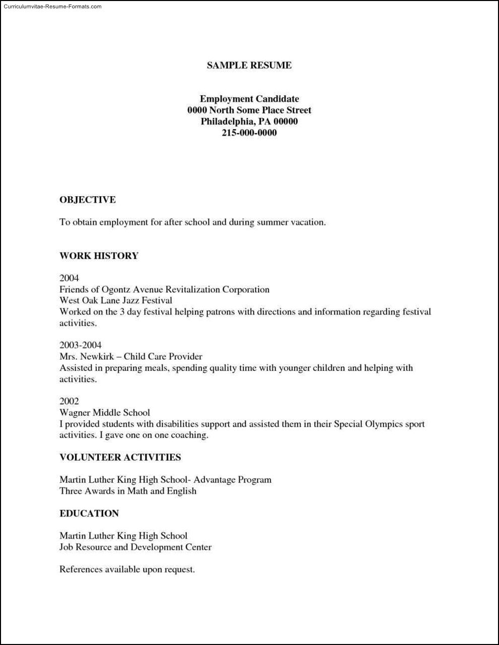 Free Printable Resumes Templates Samples Examples Format Resume