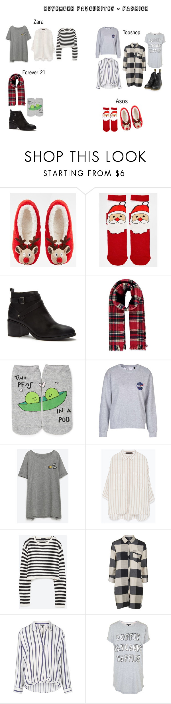 """""""My November favourites- Fashion"""" by silly-stegosaurus ❤ liked on Polyvore featuring ASOS, Forever 21, Topshop, Zara and Dr. Martens"""