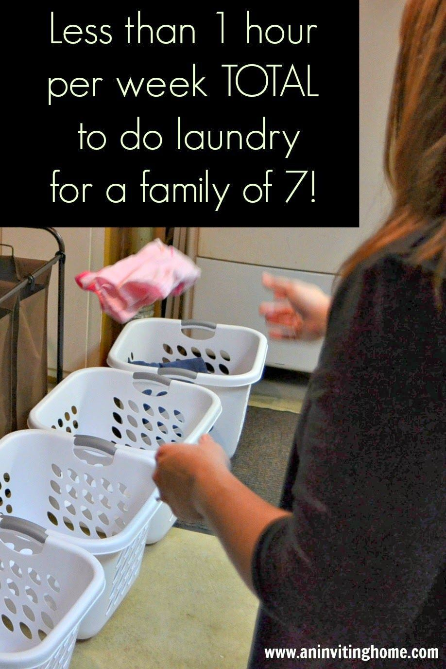 Great laundry tips for a large family oldest kids for Large family laundry