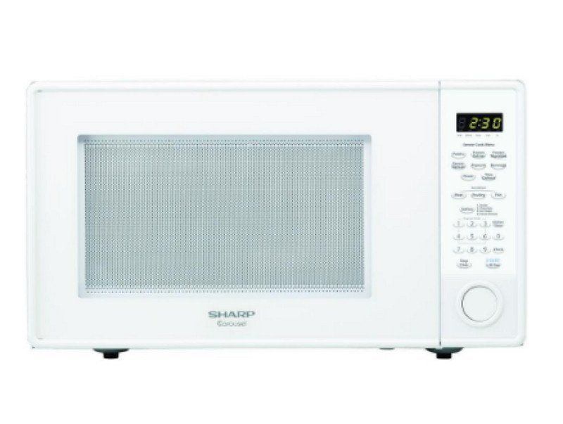 Carousel 1 8 Cu Ft 1100 Watt Countertop Microwave In White With Sensor Cooking Countertop Microwave