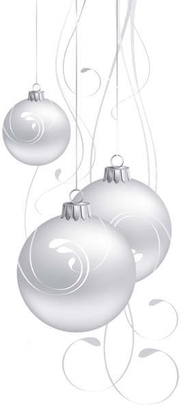 White Christmas Balls Png Clip Art Christmas Balls Clip Art White Christmas