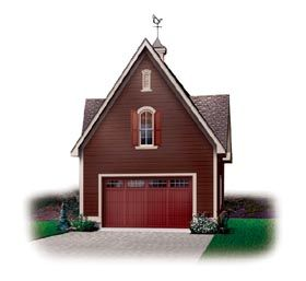 Elevation of Garage Plan 65334