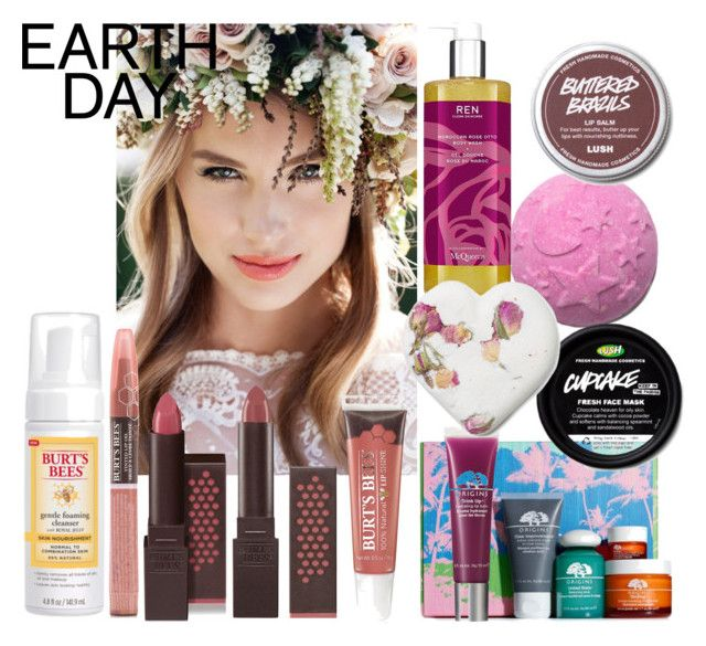 """Earth day: All Natural Beauty"" by charlotte-clavier on Polyvore featuring beauty, Origins, Burt's Bees and Space NK"