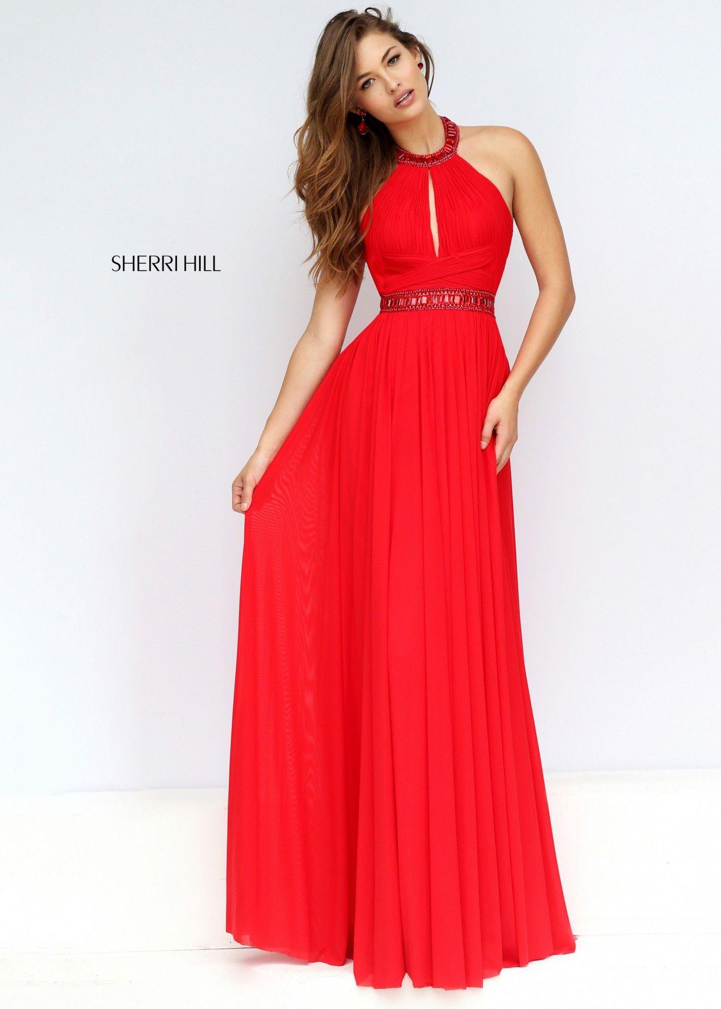 Sherri Hill 50089 Flowy Ruched Chiffon Evening Gown