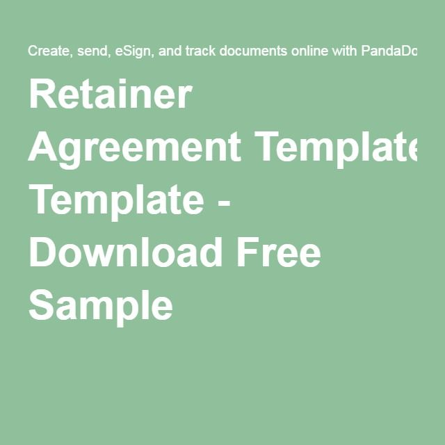 Retainer Agreement Template - Download Free Sample | Contracts