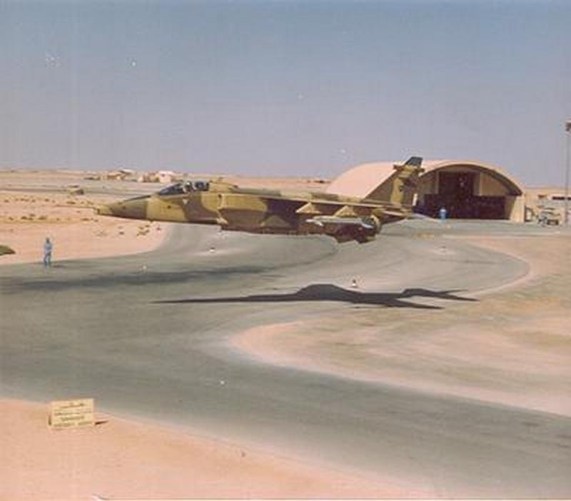 Flying low with a license. Specat Jaguar Oman.